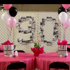 Used Another Idea I Found On Pinterest Enlarged Amp Copied Pictures For A Friends 90th Birthday DecorationsBirthday