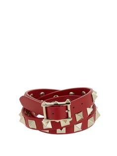 Rockstud wrap-around leather bracelet | Valentino | MATCHESFASHION.COM