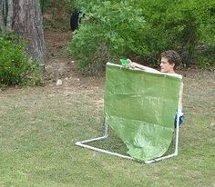 water fight-birthday party. definitely going to have forts built. oh ya baby (but better looking than this)