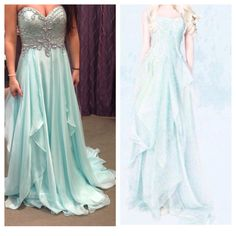 I went to go try on this Prom dress & it looks like the frozen dress!! I want it now