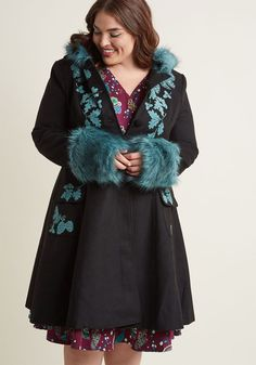 f8232c0bf79 Hell Bunny Northern Glory Fit and Flare Coat