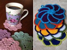 Flores de crochê são um encanto para decorar sua casa! #craft #tips