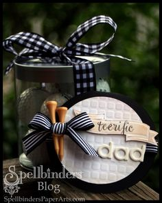 Golf Ball Gifts nunu toolies: Shaped Golf Ball Card for a Tee-rific Dad Diy Father's Day Gifts, Cute Gifts, Gifts For Dad, Party Gifts, Stampin Up, Golf Theme, Shaped Cards, Fathers Day Crafts, Golf Gifts