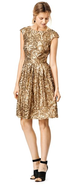 Gold lace dress for bridesmaids
