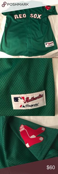 NWOT 🍀Boston Red Sox St. Patrick's Jersey NWOT 🍀⚾️ Boston Red Sox Jersey - never worn perfect condition! 💯 Authentic!!! Majestic Shirts