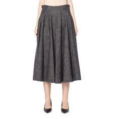 Y's Cotton Skirt (1,530 BAM) via Polyvore featuring skirts and cotton skirts