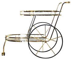 One Kings Lane - Spirited Style - Midcentury Bar  Trolley