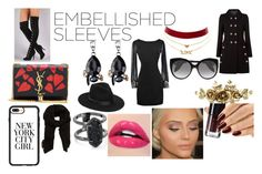 """Embellished World"" by fallen-wolf on Polyvore featuring Dolce&Gabbana, Yves Saint Laurent, Charlotte Russe, Alexander McQueen, Casetify, Lack of Color, MANGO, Kendra Scott and embellishedsleeves"