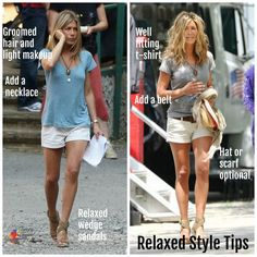 jennifer aniston style What Jennifer Aniston Can Teach You About The Relaxed Style Done Well - Inside Out Style Jennifer Aniston Style, Jenifer Aniston, Jennifer Aniston Makeup, Jennifer Aniston Workout, Casual Summer Outfits, Short Outfits, Cute Outfits, Stylish Mom Outfits, Hot Weather Outfits