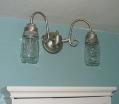 Mason Jar Lamp Makeover