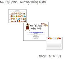 Speech Time Fun: My Fall Storytelling/Writing Guide! (PLUS A WRITING ROUND-UP) Pinned by SOS Inc. Resources. Follow all our boards at pinterest.com/sostherapy for therapy resources.