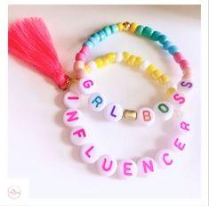 Word Bracelets, Beaded Bracelets, Creative Outlet, Playing Dress Up, Girl Boss, Happy Shopping, Chloe, Etsy Seller, Handmade Items