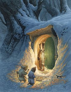 Chris Dunn Illustration - 'Mr Badger Opens The Door' Beatrix Potter, Les Moomins, Chris Dunn, Photo Images, Fairytale Art, Children's Book Illustration, Book Illustrations, Badger Illustration, Woodland Creatures