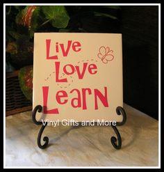 Live Love Learn Butterfly