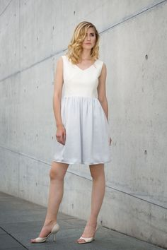 This beautiful summer dress is out of organic hemp, organic cotton and peace silk - hand made in Germany. Ethical Fashion Brands, Ethical Clothing, Beautiful Summer Dresses, Sustainable Fashion, Hemp, Midi Skirt, Organic Cotton, White Dress, Peace