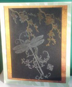 handmade dragonfly card