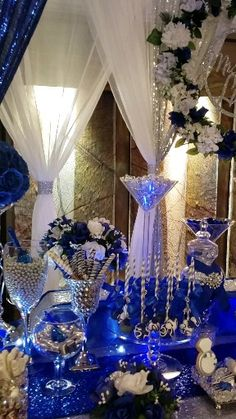 This Is Royal Themed Wedding Dessert Table by La'Ques Creations @ Touch Of Class By Candlelite – Wedding Centerpieces Hawaiian Party Decorations, Quince Decorations, Wedding Candy Table, Wedding Desserts, Wedding Cakes, Deco Buffet, Candy Buffet Tables, Dessert Table, Quince Themes