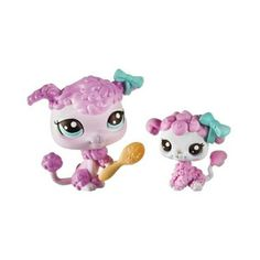 name littlest petshop petshop mom and her baby poodle range dolls 2012 ...