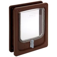 "This attractive cat door is designed to fit all doors and panels of wood,metal and PVC construction. Due to its tunnel profile it will fit surfaces from approx 3/8""- 2"" thick. It is simple to install"