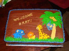 Jungle Themed Baby Shower Cake