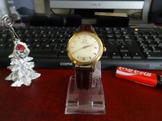 Vintage Ernest Borel Gold Tone Automatic Watch w/ 16mm Genuine Leather Band! #ErnestBorel #LuxuryDressStyles