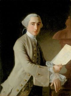"""James Adam (1732–1794)  by Allan Ramsay  1754  Oil on canvas  Collection: Laing Art Gallery  James Adam (21 July 1732 – 20 October 1794) was a Scottish architect and furniture designer, often overshadowed by his older brother and business partner, Robert Adam.  The Adam style (or Adamesque and """"Style of the Brothers Adam"""") is an 18th-century neoclassical style of interior design and architecture, as practised by the Adam brothers. Palladian design was popular, but Robert had evolved a new…"""