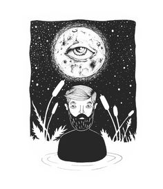 sometimes there is a feeling like your're drowing in a swamp.    All orders are custom made and most ship worldwide within 24 hours.  #Art #Print #sketch #artwork #illustrator #karmanverdi #tattoo #dotwork #shop #beard #idea #tshirt #sociaty6 #man