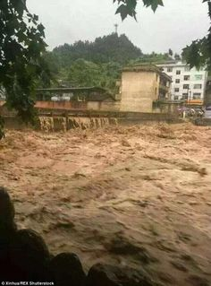 05/27/2015 - Devastating floods ravage southern China with at least 54 people dead, more than 15,000 homes destroyed and 8 MILLION affected - as torrential rain continues - brutal.