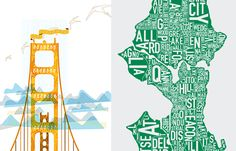 """Genius travel memento tip from Joy Cho from Oh Joy """"Some people collect souvenirs, but one of my favorite things to collect is a print from various cities I've lived or have visited. They'd be amazing all on one large wall or simply hung in various areas of the home..."""""""