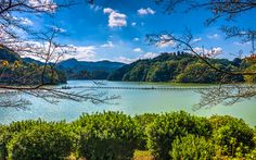 Download wallpapers Lake Shorenji, 4k, hills, forest, Nabari, Japan, Asia