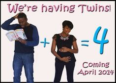 for all things creative!: We're Expecting! TWINS! :)
