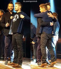 J2 ❤ #JIBCon7 #Jensen Ackles #Jared Padalecki awww