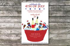 totaly different than what i thought of first 4th of July Summer BBQ Invitation by ElsyPaper on Etsy