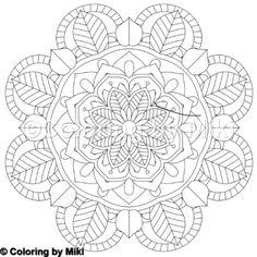 Flower Mandala Coloring Page #54