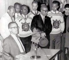 The brothers of Omega Psi Phi Fraternity Inc. with Malcolm X.  :)