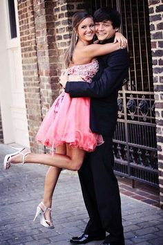 Pink Homecoming Dress with Beading,Sweetheart Homecoming Dress with Open