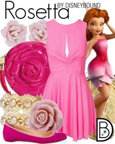 Pretty in pink just like Rosetta the Fairy. | Disney Fashion | DisneyFashion Outfits | Disney Outfits | Disney Outfits Ideas | Disneybound Outfits |