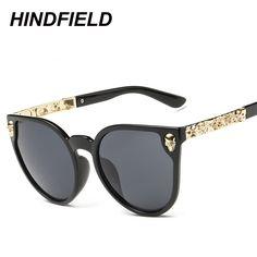 Click to Buy    Fashion Black Sunglasses Women Brand Designer Skull Sun  Glasses.    d28ff200ec