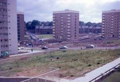 Lee Bank 1968, Elvetham rd in the center before it got split in two by Lee bank middleway.