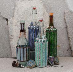 Mosaic Bottles by Chris Emmert, via Flickr