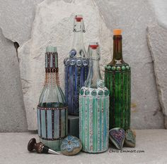 Mosaic Bottles by Chris Emmert, via Flickr
