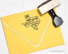 custom state address stamp | endashdesigns.com
