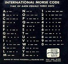 morse code... for all those caches that begin with a riddle... #survival