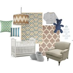 great mix of prints for a baby boys room