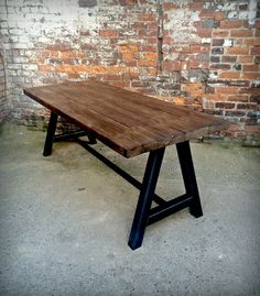 Reclaimed Industrial Chic A-Frame 6-8 Seater Solid Wood by RCCLTD