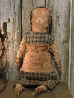Sweetpeas Primitives ~ Primitive Doll...
