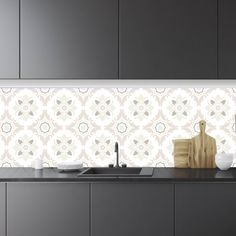 Fasade Monaco Matte White Backsplash Panel Sample Products