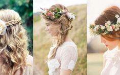 8aac4c00d0b8 Idee per acconciature da sposa con fiori tra i capelli - Acconciature da  sposa con fiori