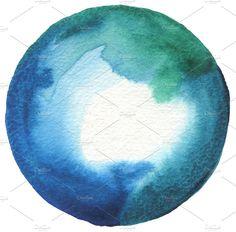 Circle watercolor by Liliia Rudchenko on @creativemarket