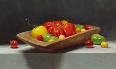 """Sarah Lamb on Instagram: """"""""Heirlooms in a Trough""""🍅 11x18 This is a painting demonstration I did for a 3 day workshop @grandcentralatelier ! It was a great class!…"""""""